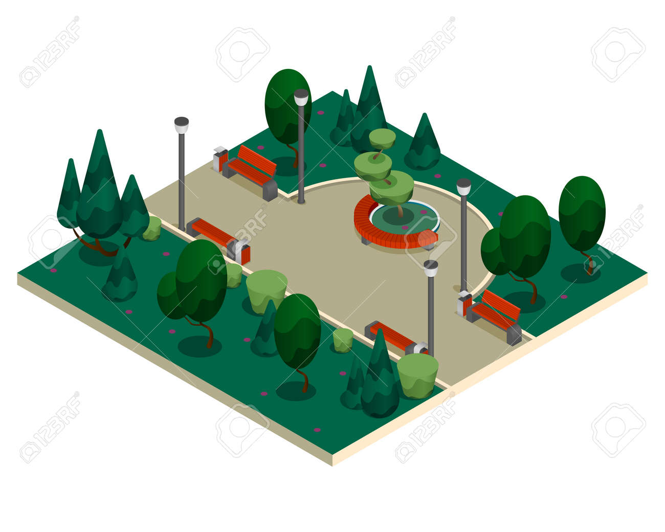City Constructor Elements Isometric Isolated Composition - 171635951