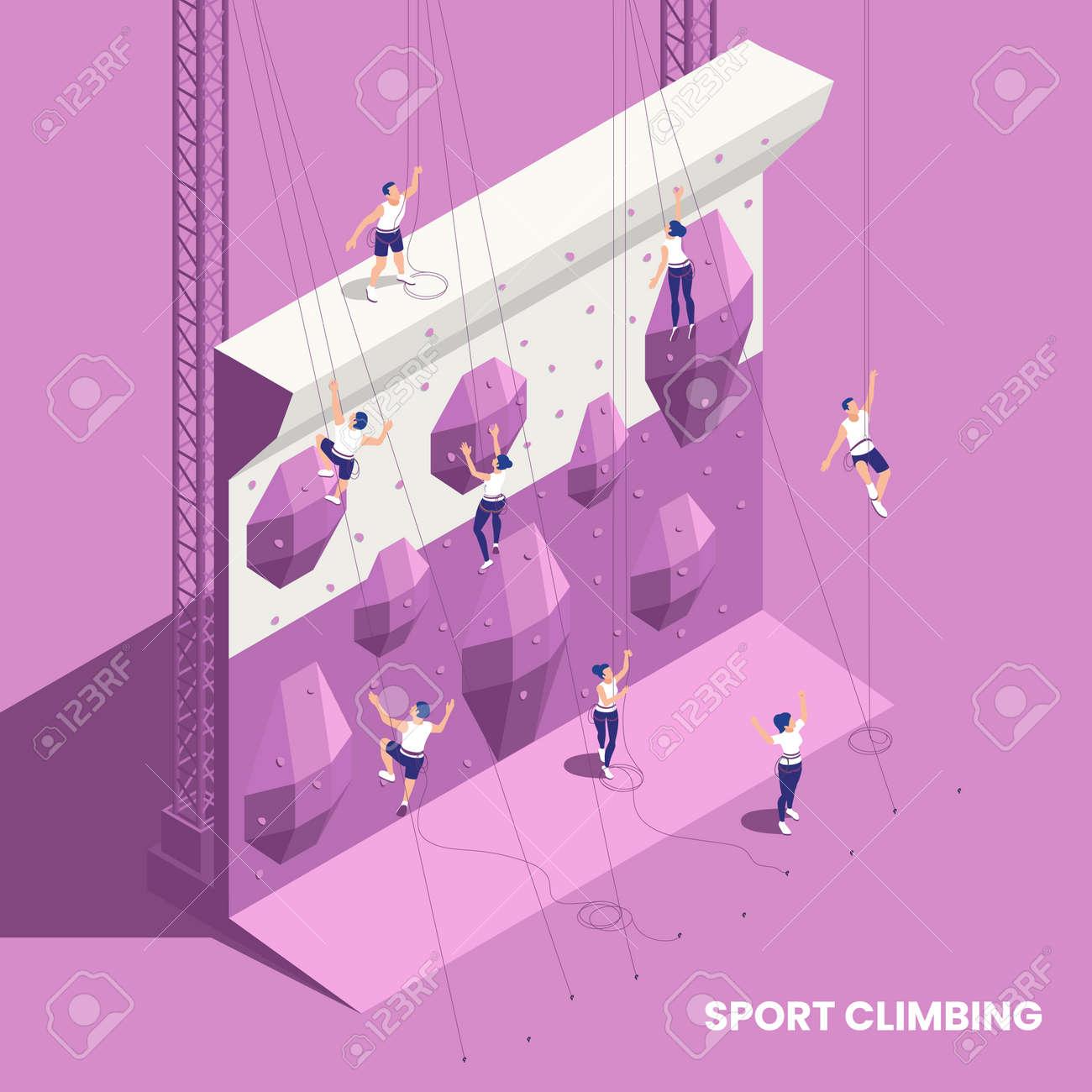 Climbing Sport Isometric Element - 171636399