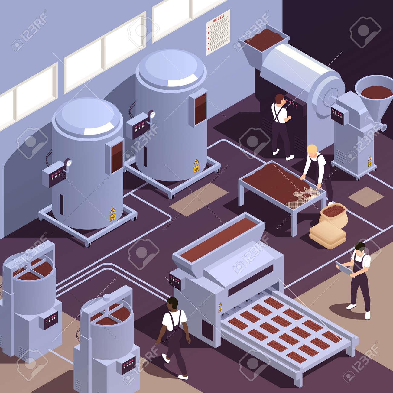 Chocolate Production Facility Isometric - 171636306