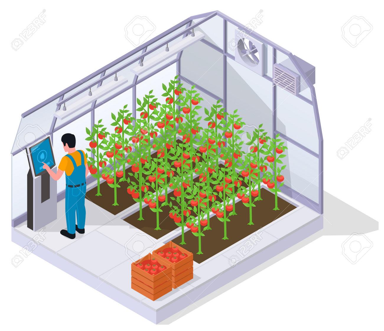 Modern Greenhouse Isometric Concept - 171636183