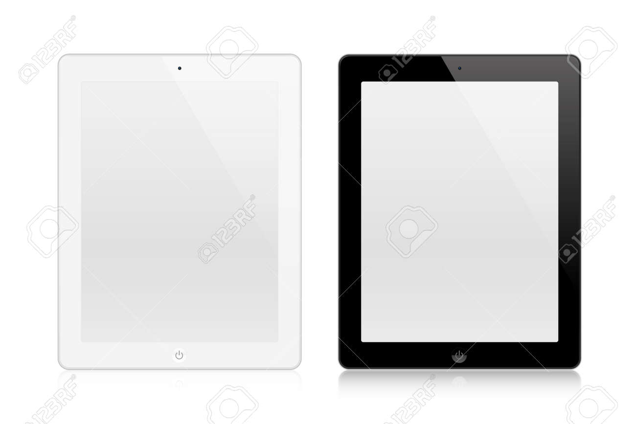 Tablets In New Ipade Style isolated on white background - 166695926
