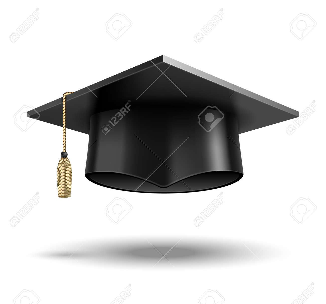 Vector Student hat isolated on white background - 166695948
