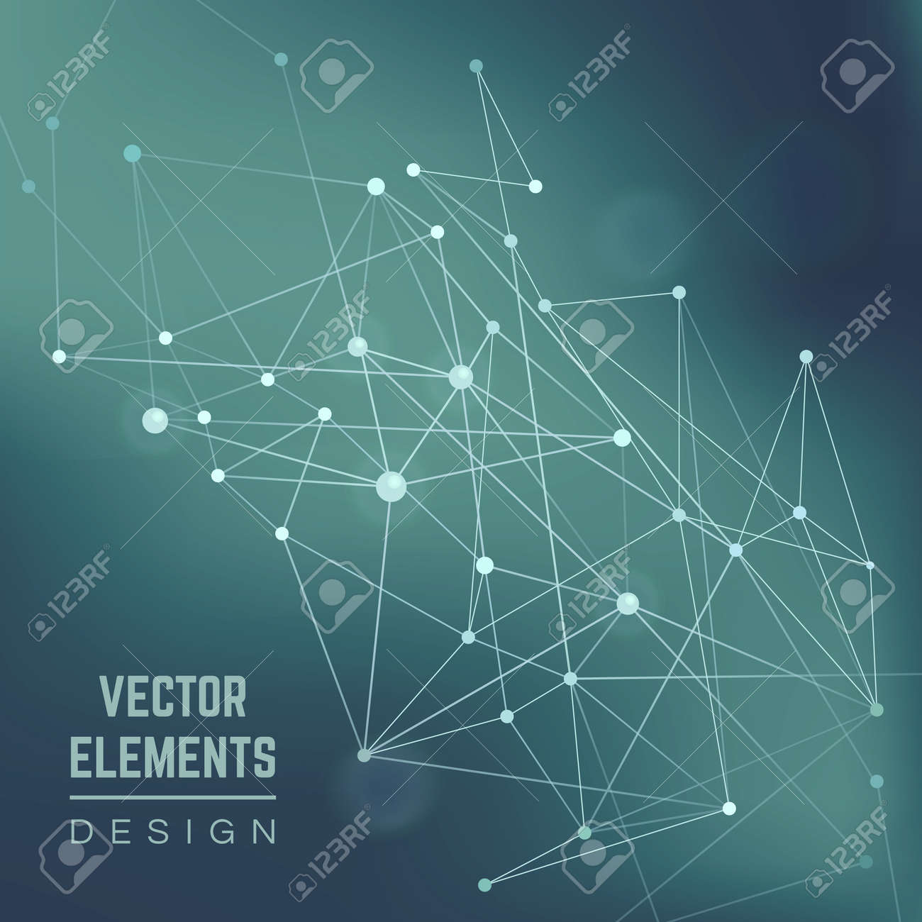 Molecule structure. Connection chemistry, science and research, technology illustration . Abstract vector background - 166762471