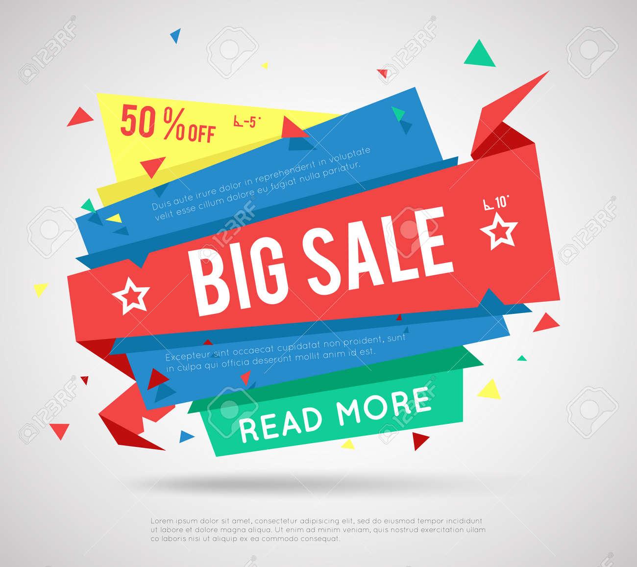 Big Sale Banner. Modern sale label, super sale or special offer sale banner. - 167009019