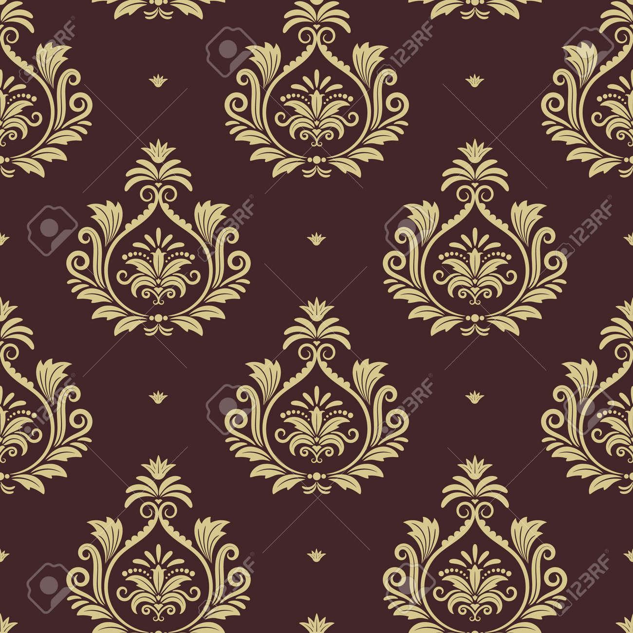 Royal seamless background. Wallpaper with floral element. Vector illustration design - 167043099