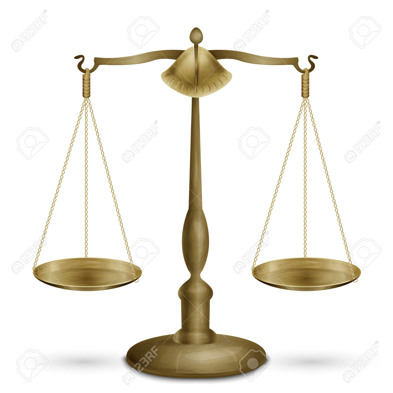 Antique scales low and justice symbol isolated on white background vector illustration - 167123501