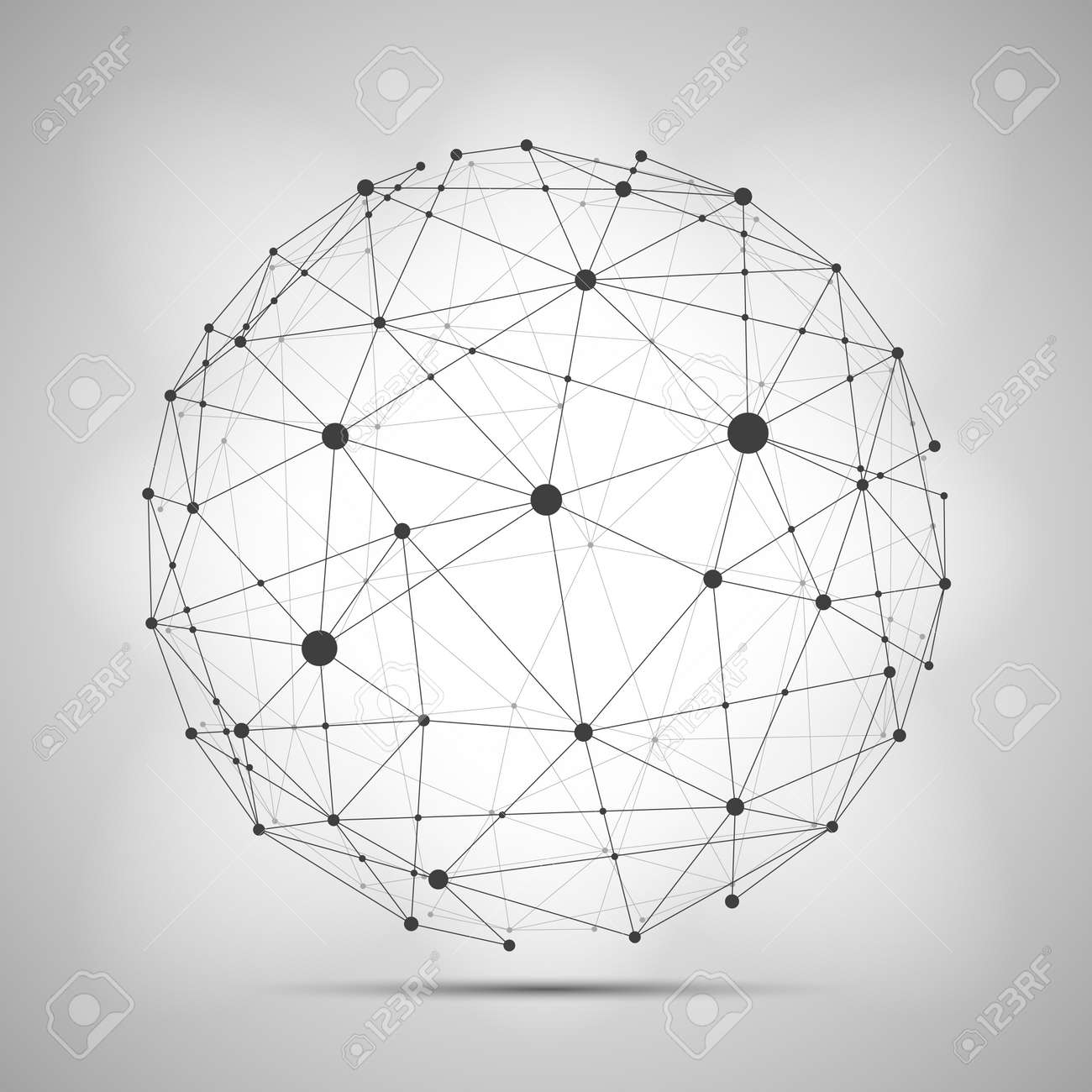 Vector wireframe connecting earth sphere. Globe connection concept. Globe structure connect, illustration of globe network - 168013305