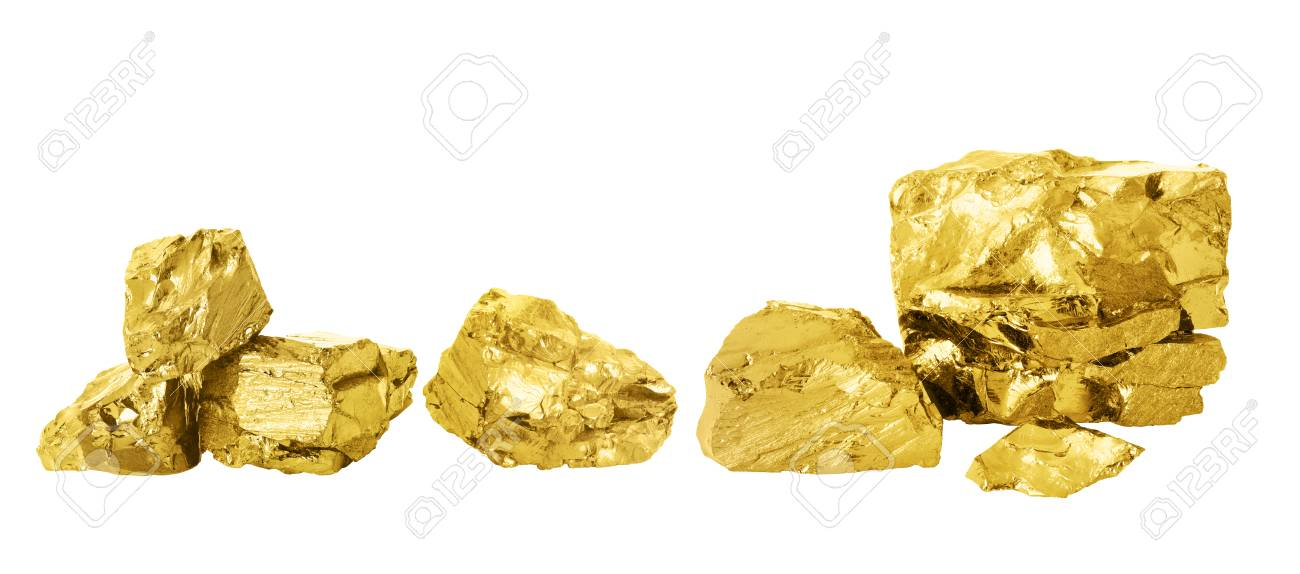 Gold nugget set. - 110303624