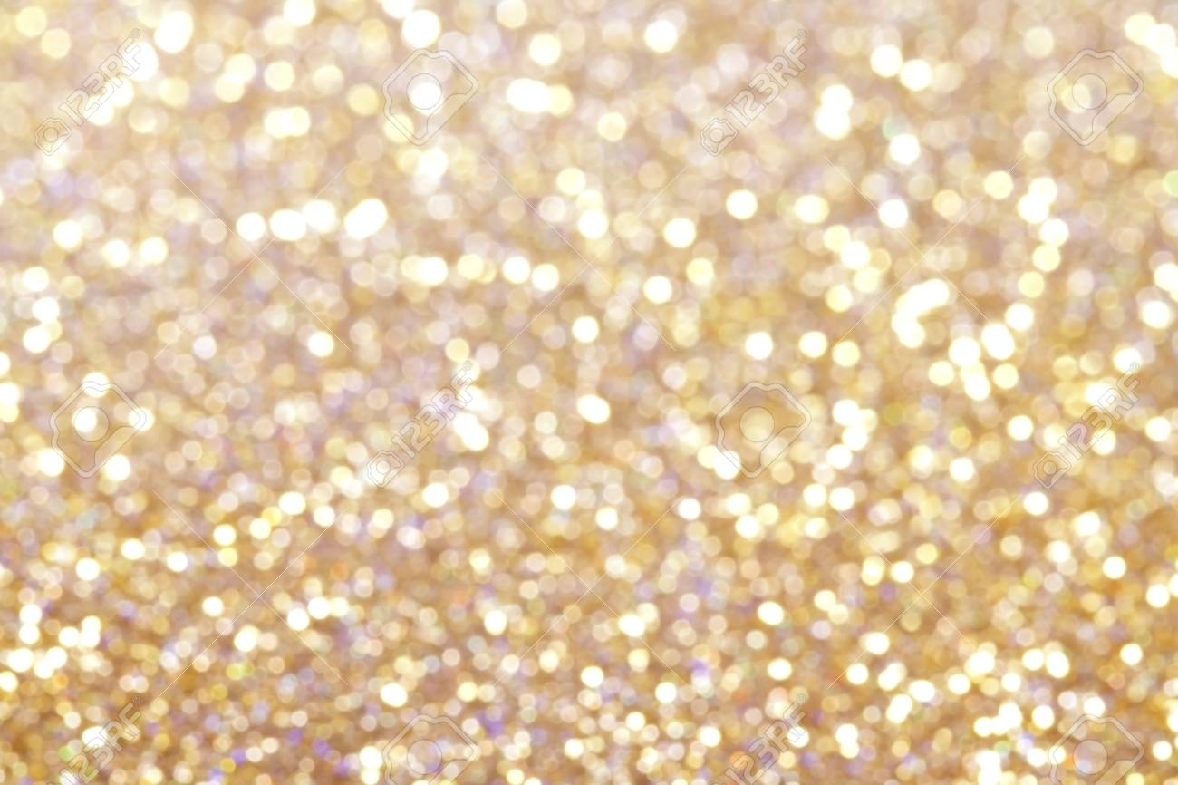 Gold abstract bokeh background - 110303813