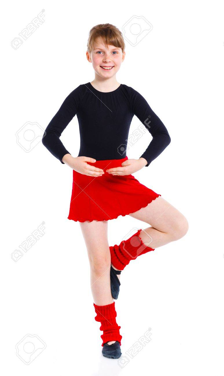 Ggirl the gymnast trains Stock Photo - 13987417