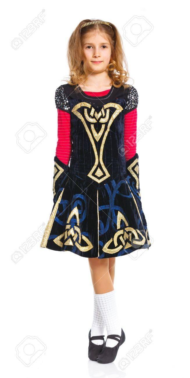 irish dancer stock photo 14069325 - Irish Dancer Halloween Costume