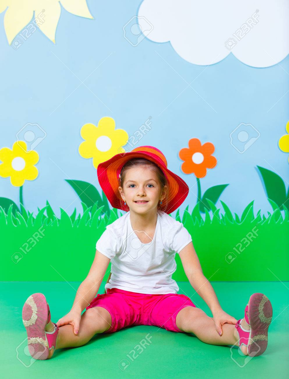 Lovely Young girl wearing colorful summer clothing on Fashion and Beauty Summer theme Stock Photo - 27361016