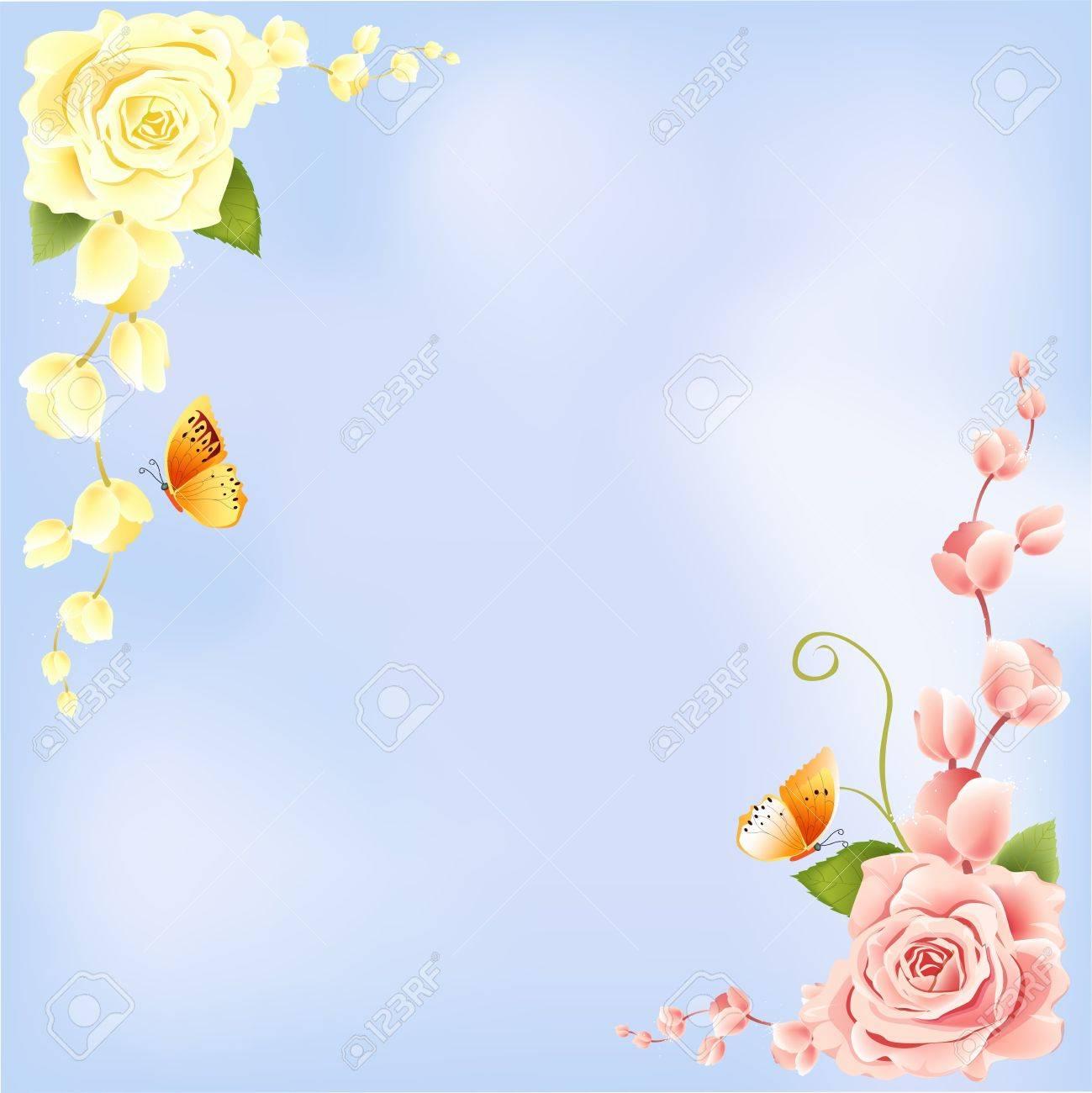 Rose on Blue Background Stock Photo - 5336577