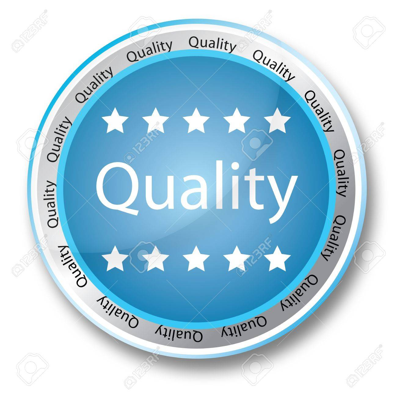 Blue quality button Stock Photo - 5771924