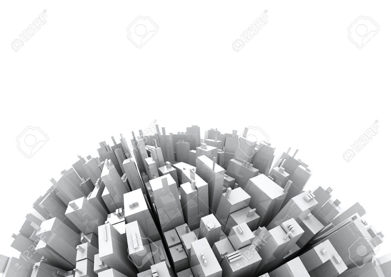 Skyscrapers copy space - Skyline in the Future Stock Photo - 6640936