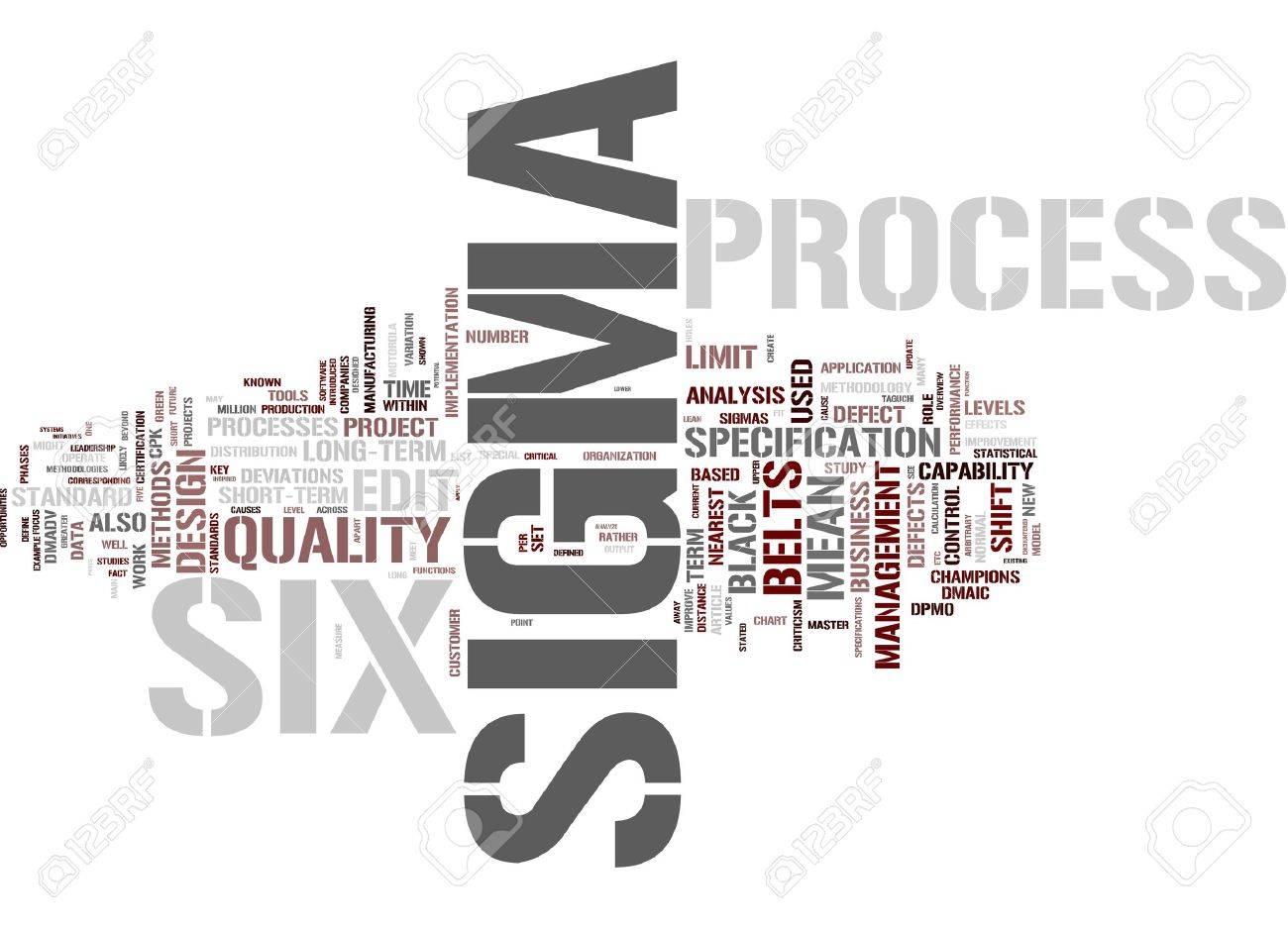 Six Sigma Process Stock Photo - 12178074