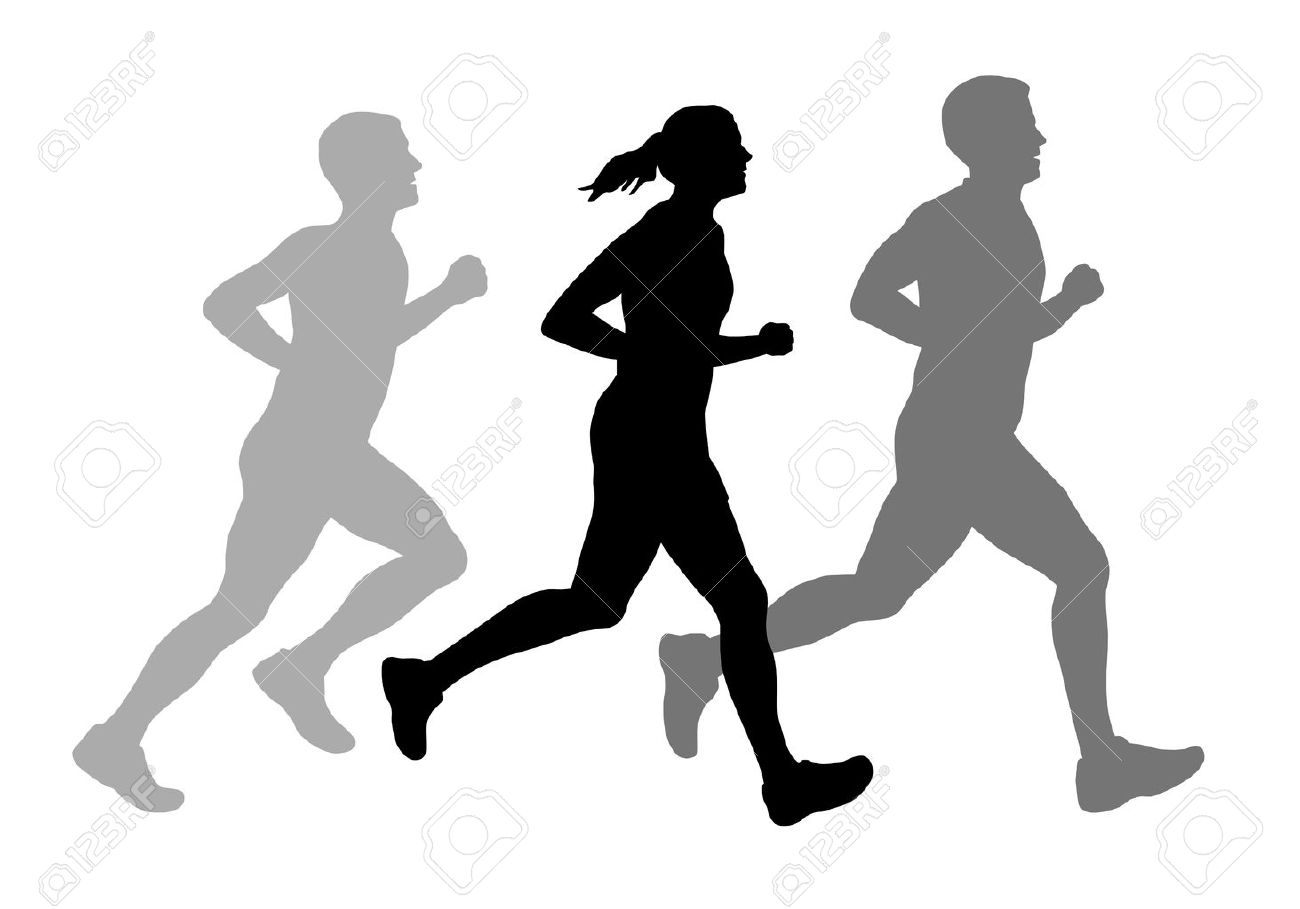 Illustration - Running People Royalty Free Cliparts, Vectors, And ... for people running silhouette png  166kxo