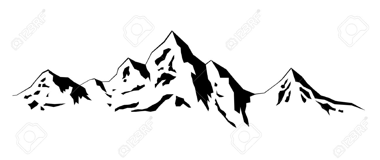 Mountain Silhouette illustration winter mountains royalty free cliparts, vectors, and