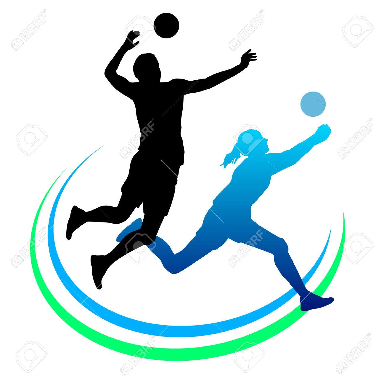 illustration of volleyball sport royalty free cliparts vectors and rh 123rf com volleyball vector passing volleyball vector art free