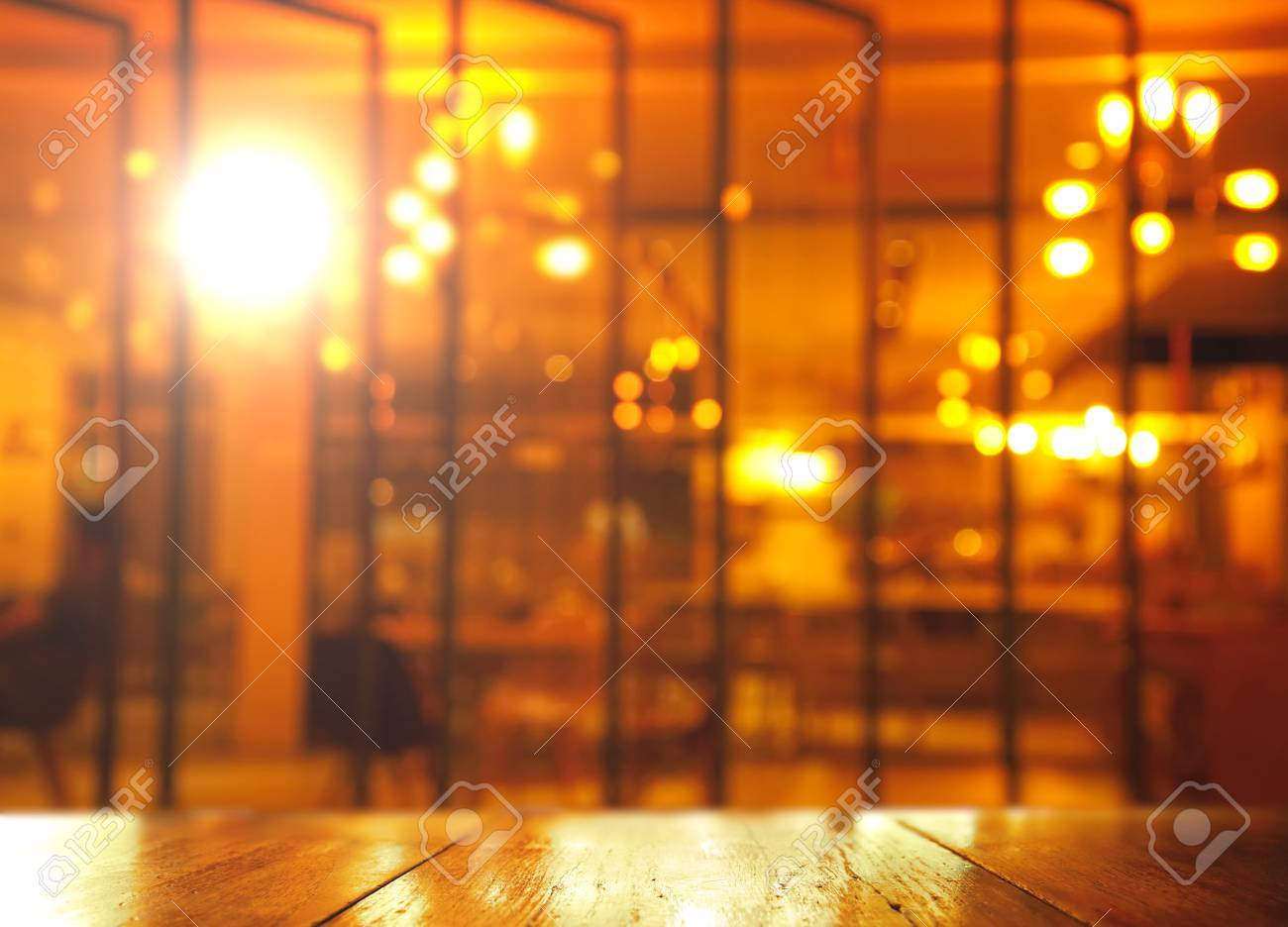 Top Of Wood With Lamp Light In Bar At Night Background Stock Photo Picture And Royalty Free Image Image 78075518