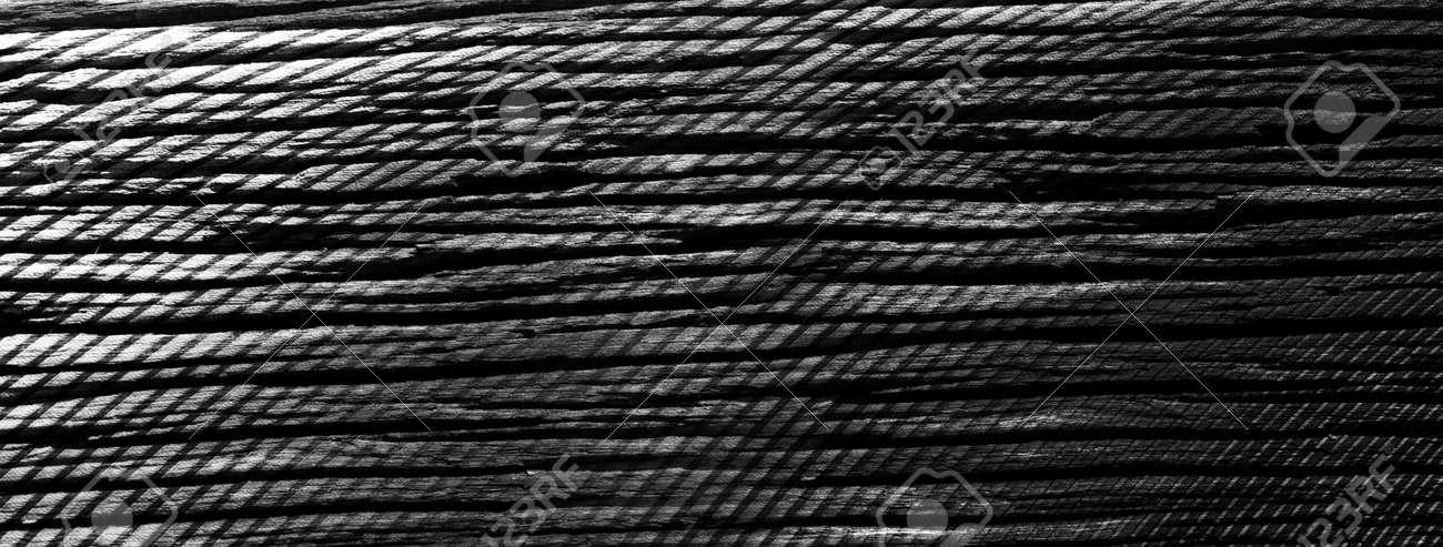 dark black aged wood floor and metal blend banner texture background - 172981130