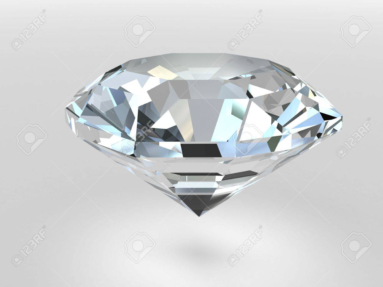 Diamond rendered with soft shadows. High resolution 3D image Stock Photo - 4686008
