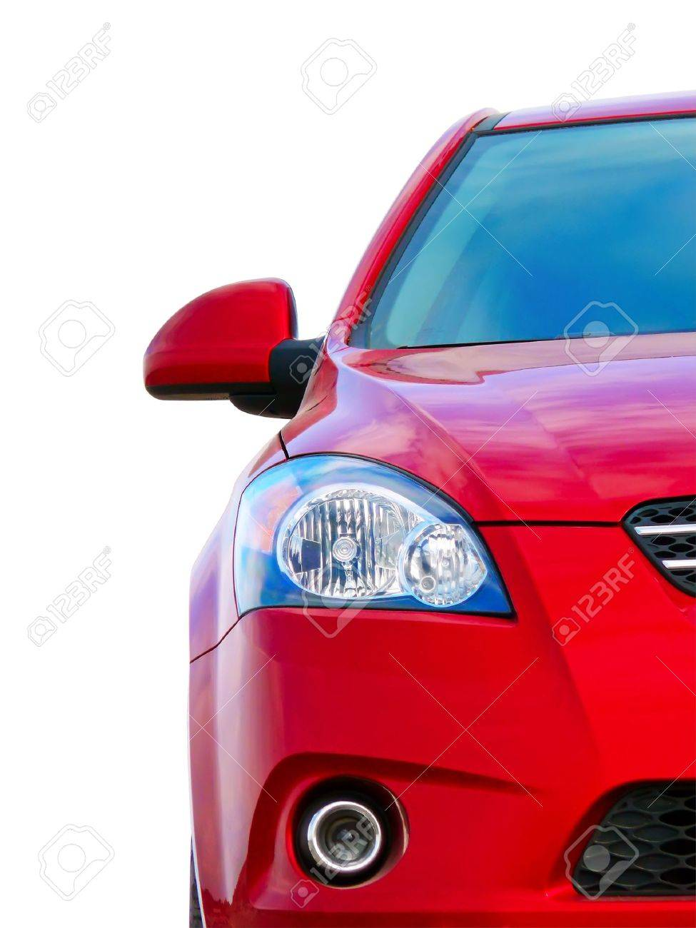Red sport car, front view, half Stock Photo - 8083963