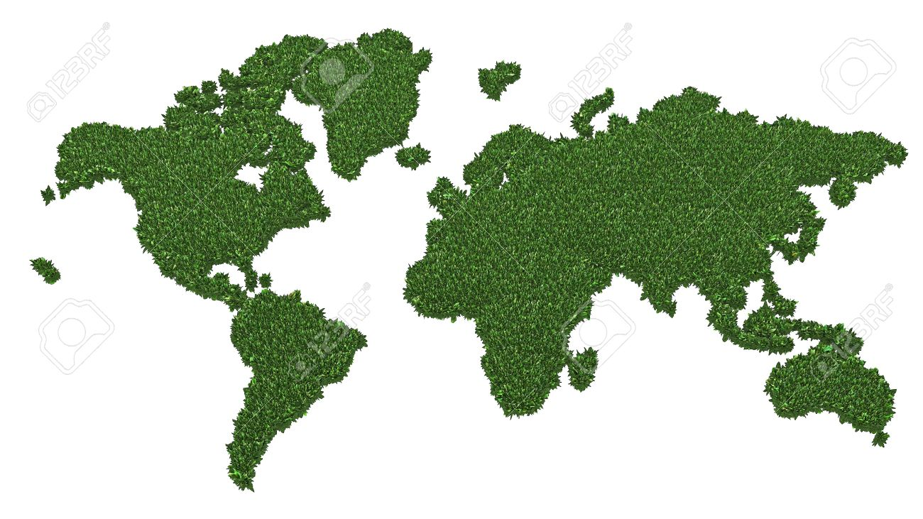 World map made of green grass isolated on white background high stock photo world map made of green grass isolated on white background high resolution 3d image gumiabroncs Choice Image