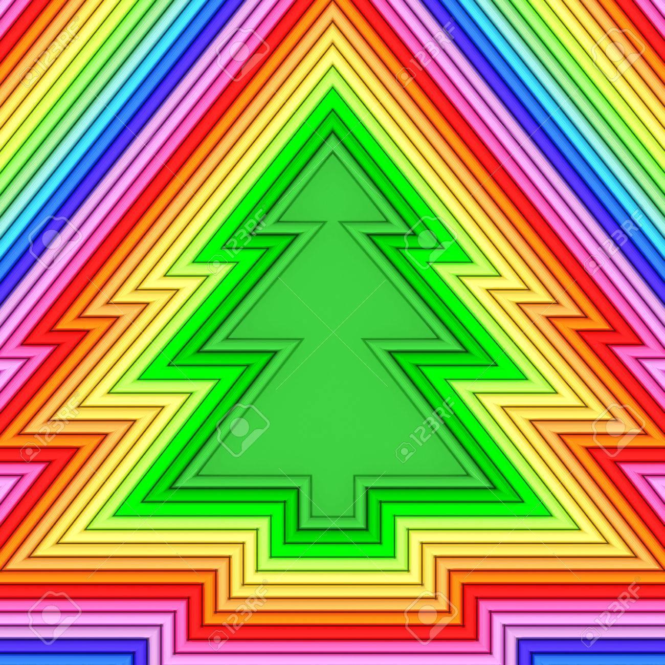 Weihnachtsbaum Form Von Bunten Metallischen Rohren Besteht ...