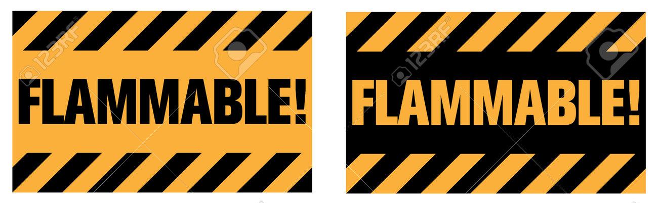 Flammable warning sign. EPS10 vector illustration. - 162507248