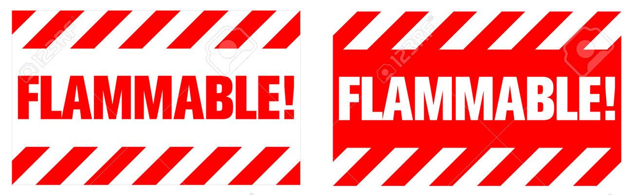 Flammable warning sign. EPS10 vector illustration. - 162507395