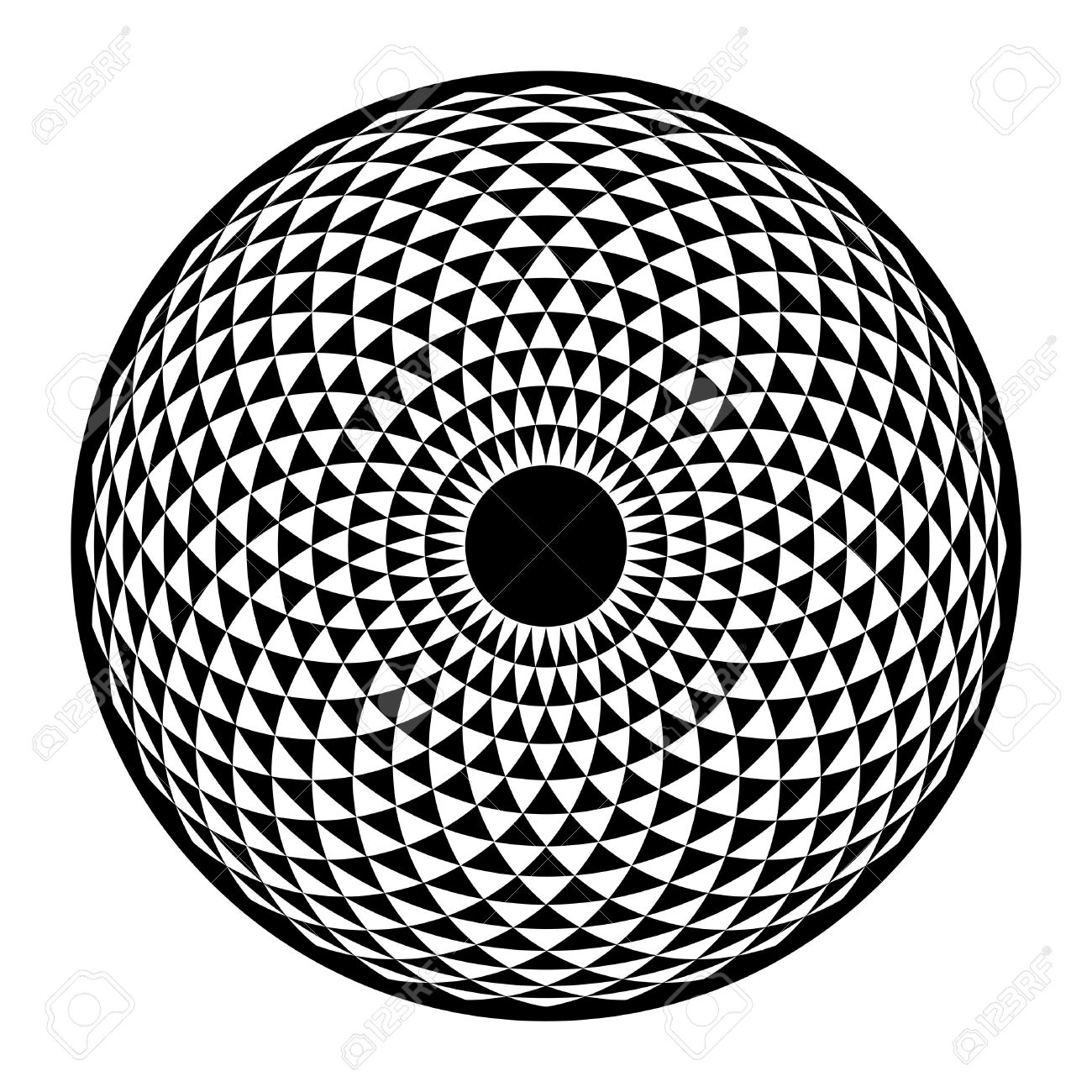 Torus Yantra, Hypnotic Eye Sacred Geometry Basic Element. Vector ...