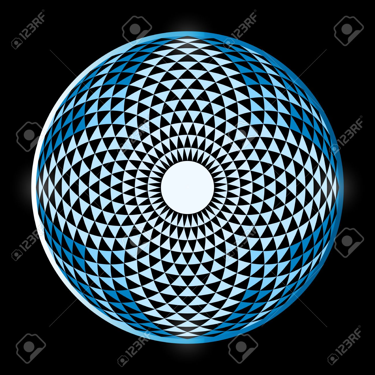 Torus Yantra, Hypnotic Eye sacred geometry basic element  Torus