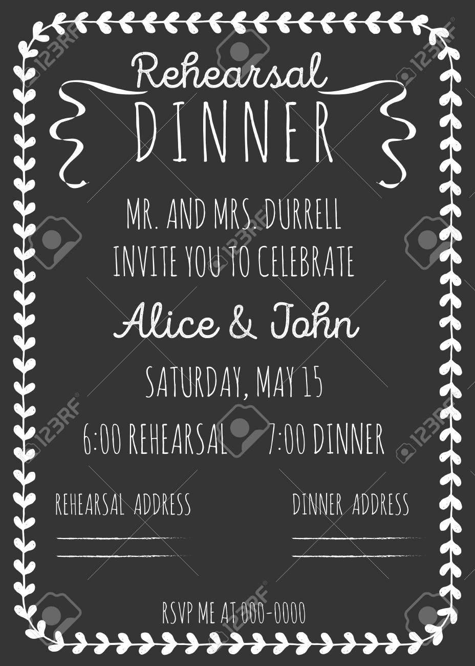 vintage wedding einladung. wiederholungs-abendessen-vorlage, Einladung