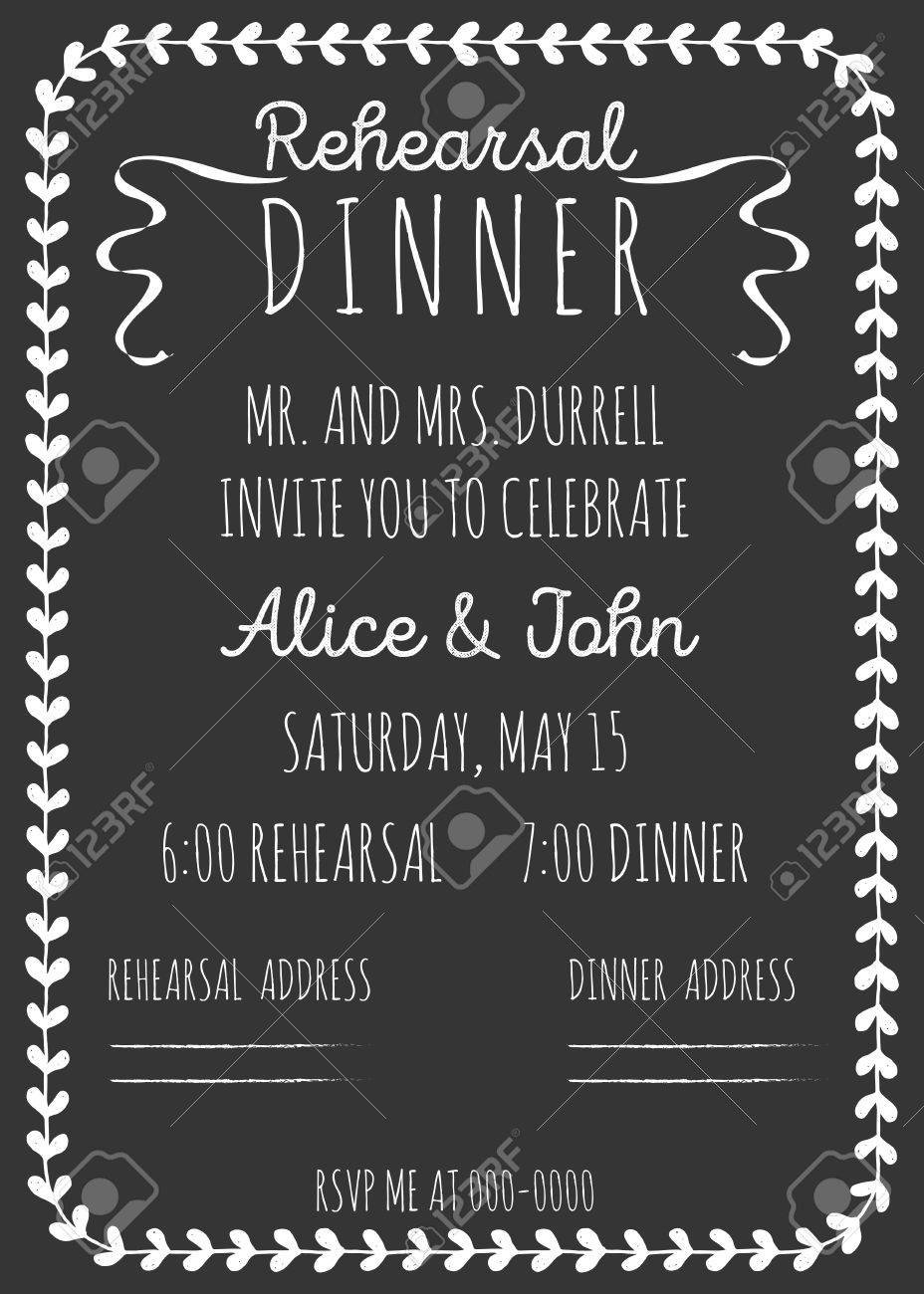 vintage wedding invitation rehearsal dinner invitation template