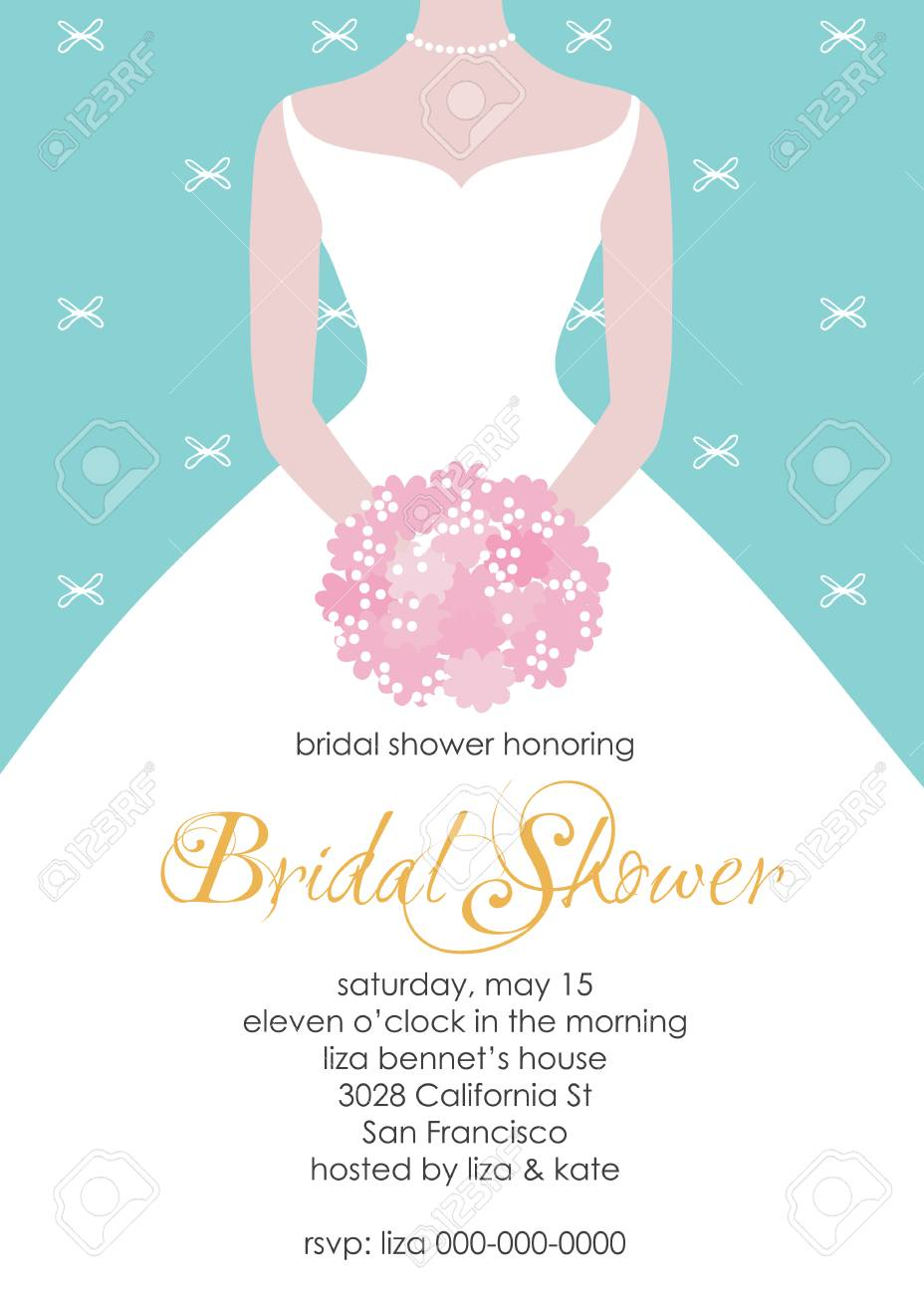 Bridal Shower Invitation Template. Wedding Fashion Vector ...