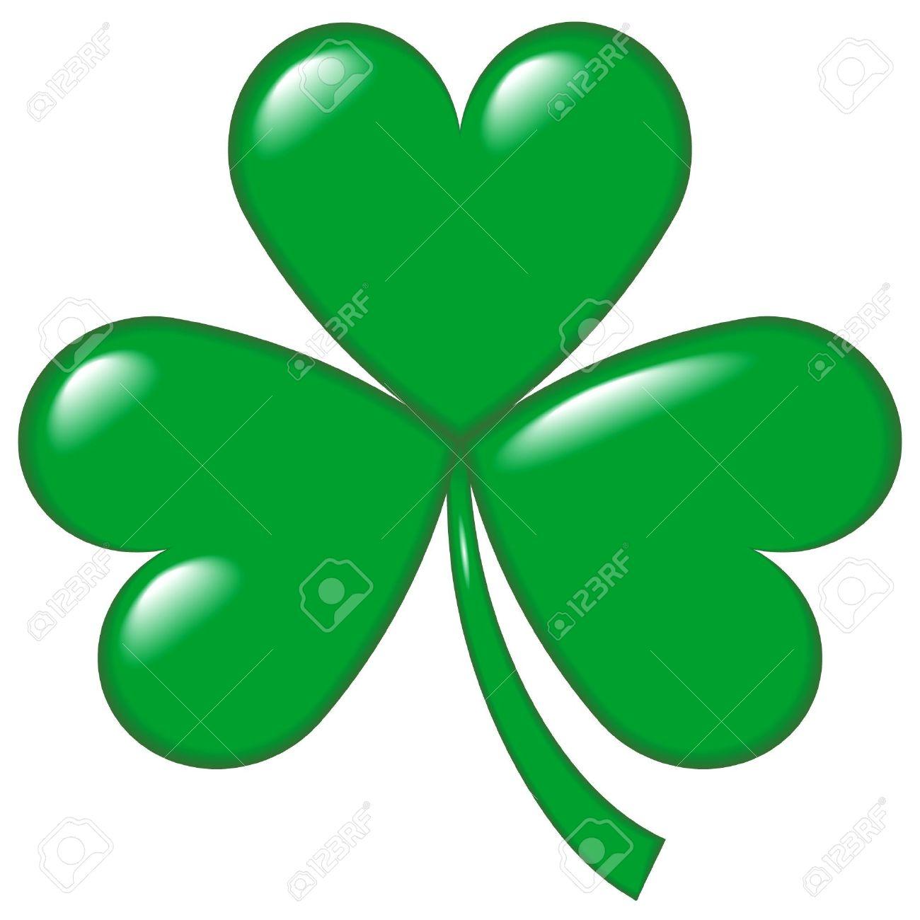 An Illustration Of A Shamrock Or Hop Clover Symbol Of Ireland