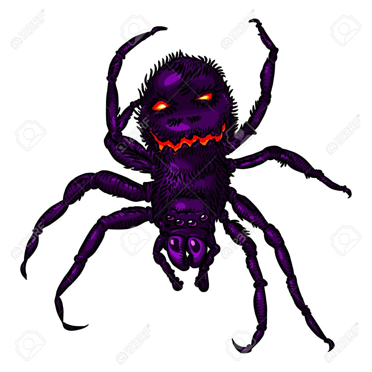 Halloween Spider Color Royalty Free Cliparts, Vectors, And Stock ...