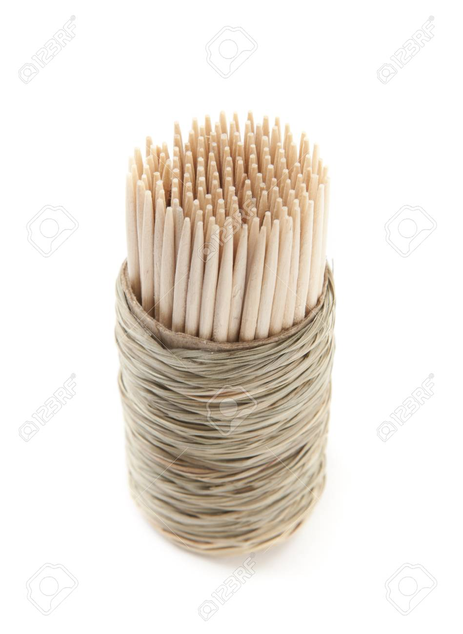 Closeup of Toothpick on White Isolated Background Stock Photo - 11276371
