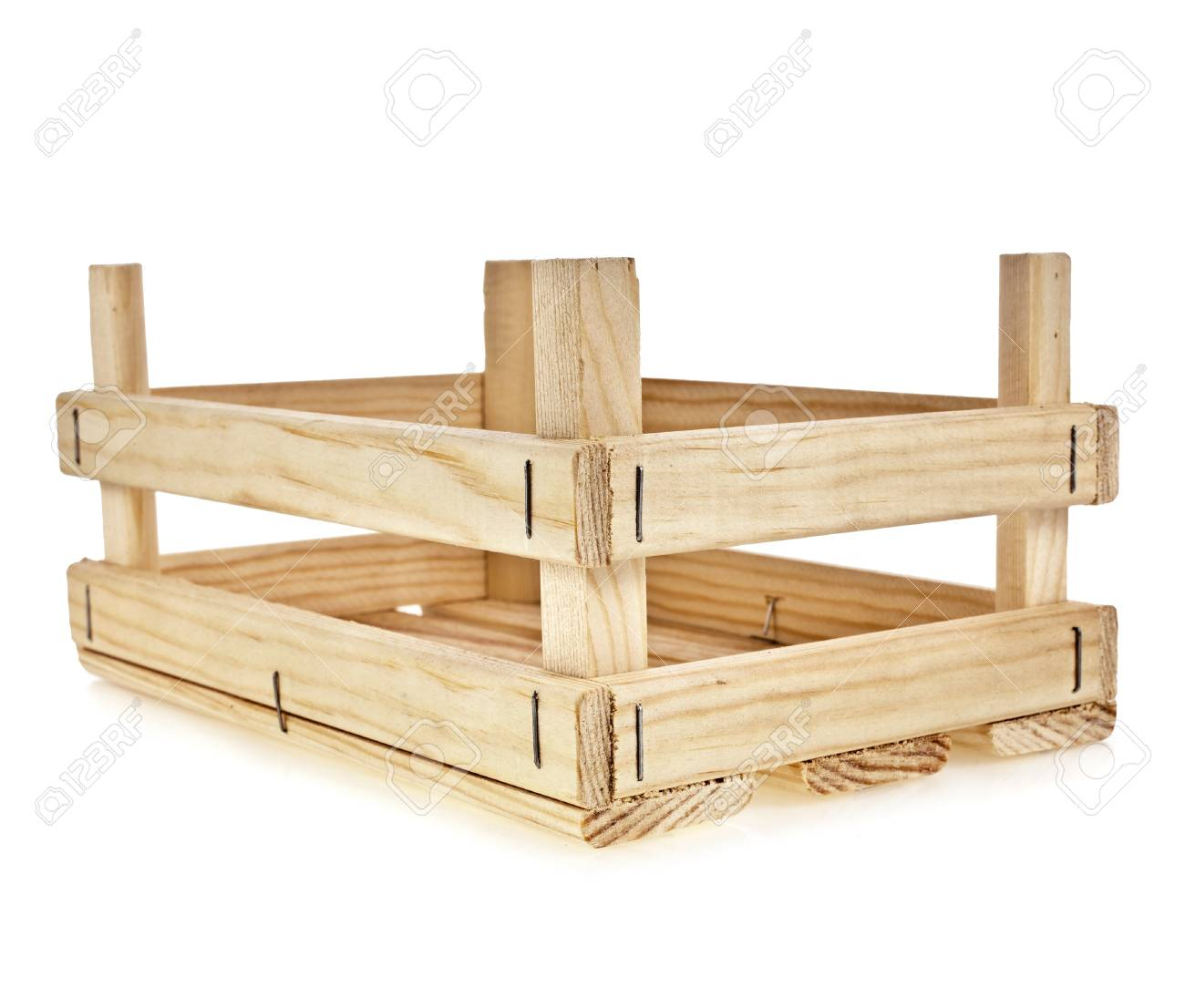 empty wooden box isolate on a white background Stock Photo - 17735670