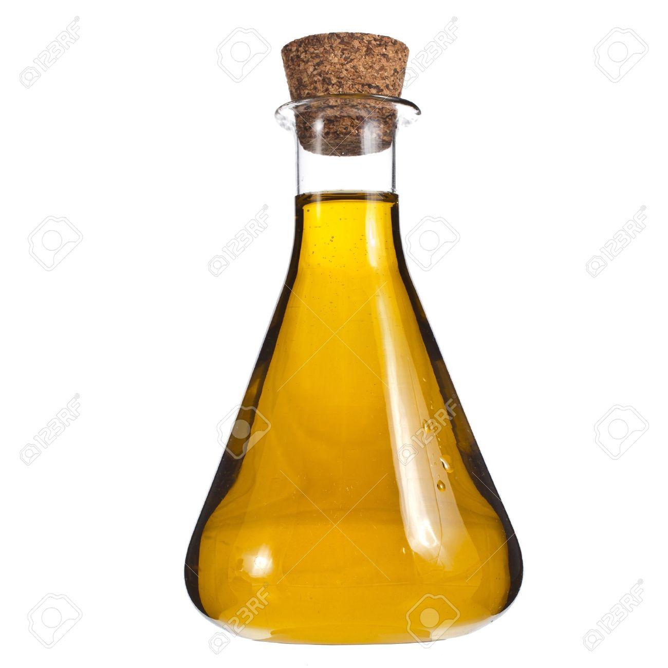 oil bottle isolated on white background Stock Photo - 18374709