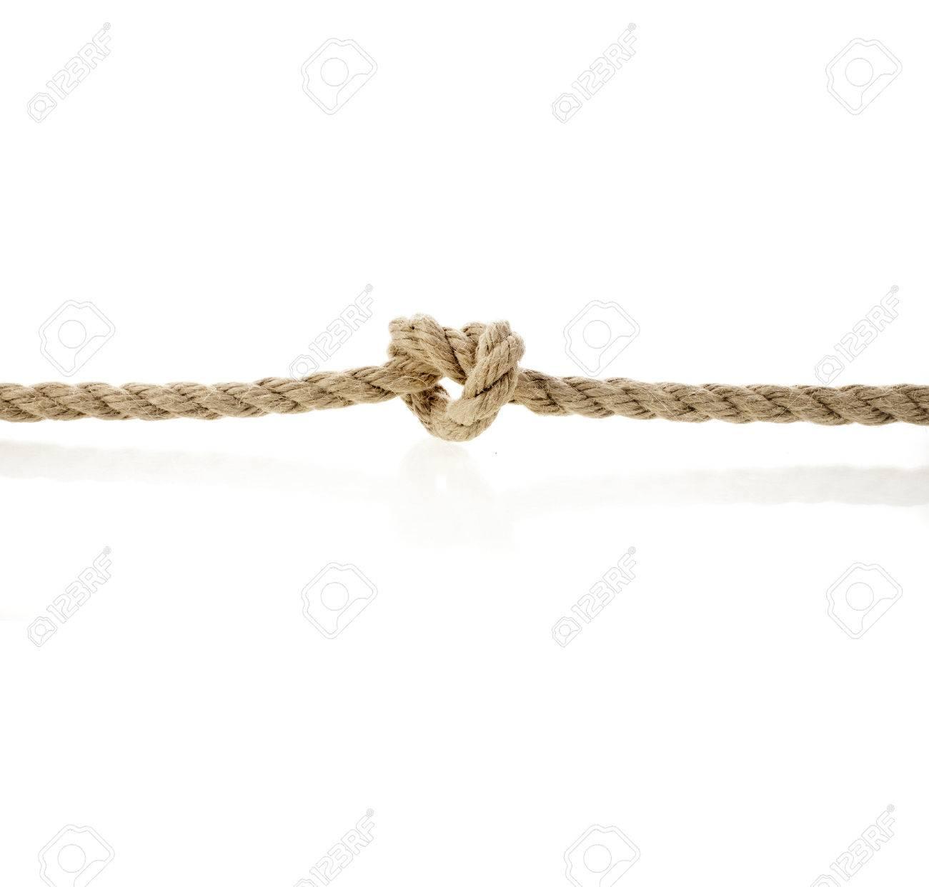 cuerda de yute sobre fondo blanco foto de archivo