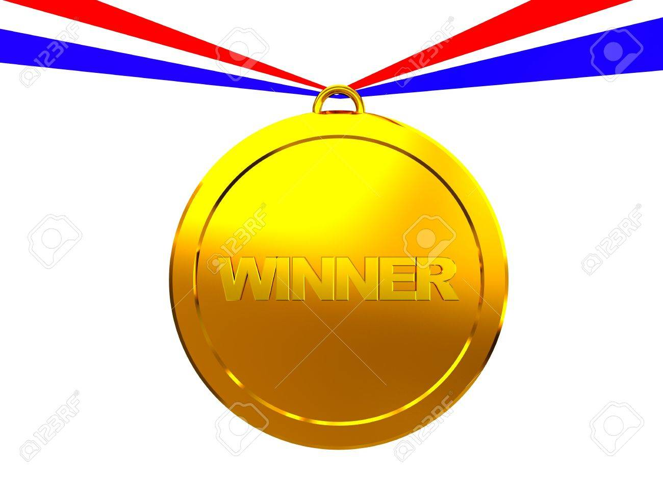 3d illustration of golden medal with 'winner' text Stock Photo - 4512628