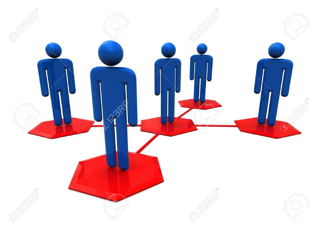 3d illustration of social network over white background Stock Illustration - 4864897