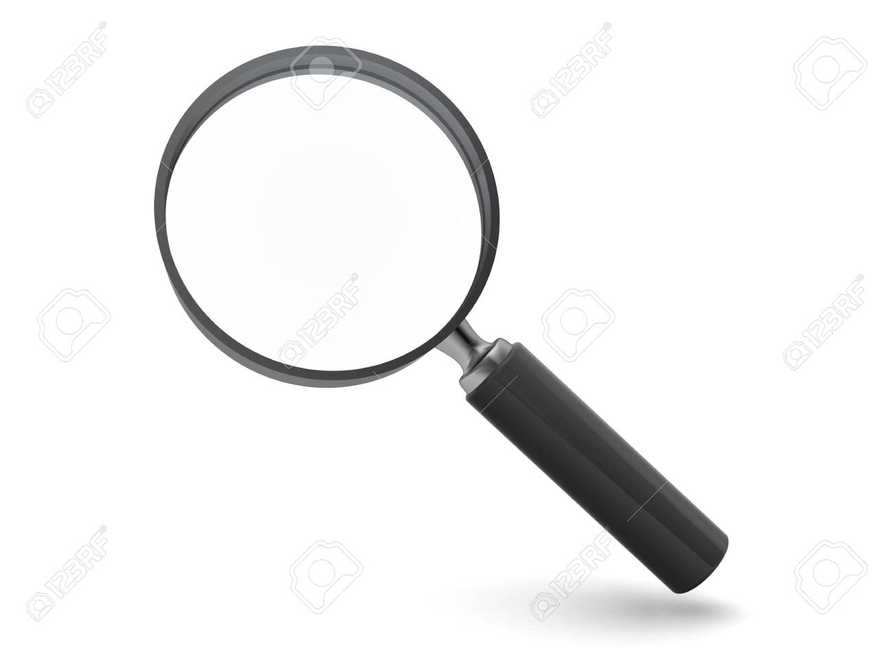 3d illustration of magnify glass isolated over white background Stock Illustration - 5653388