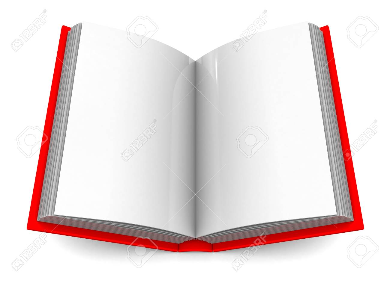 3d illustration of blank pages book over white background Stock Photo - 6003004