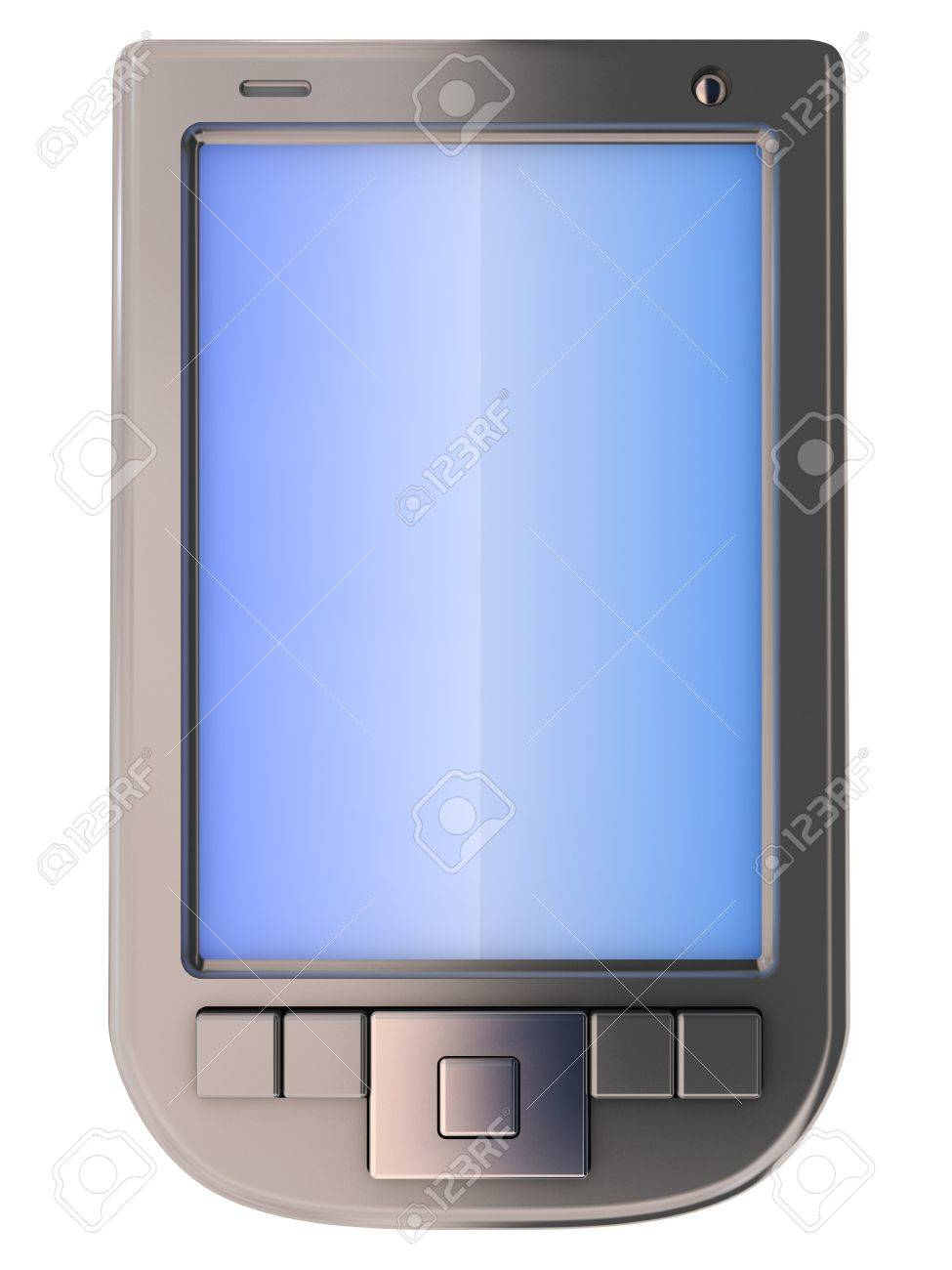 3d illustration of generic pda isolated over whte background Stock Illustration - 6253312