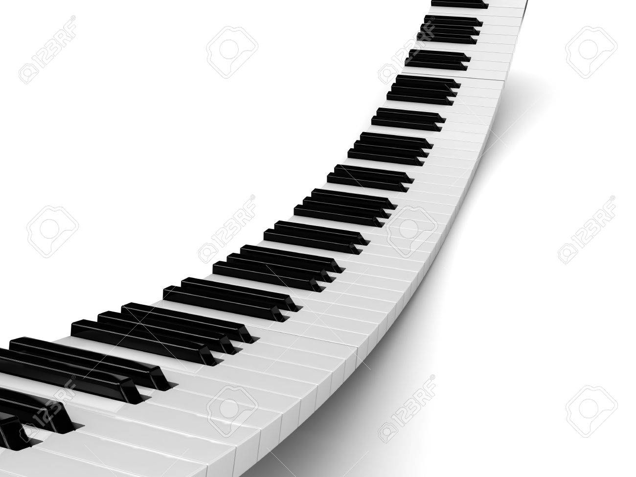 abstract 3d illustration of piano background Stock Photo - 6675714