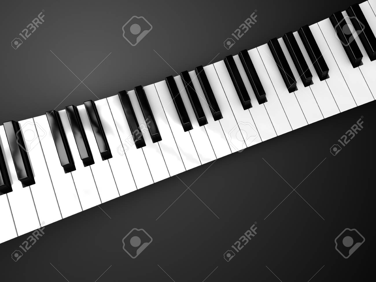 3d illustration of piano keyboard background Stock Photo - 6895075