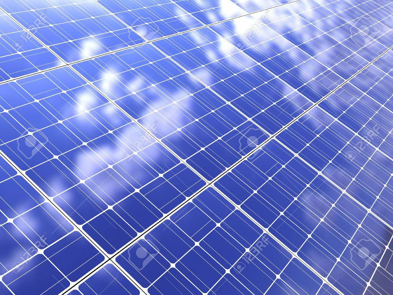 abstract 3d illustration of solar panel background Stock Illustration - 6895108